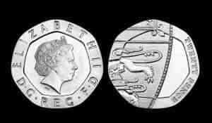 Some 20p coins were minted undated in 2008