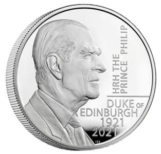 Prince Philip 2021 £5 coin
